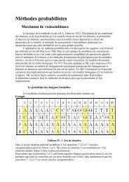 Méthodes probabilistes Maximum de vraisemblance - GENET