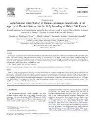Bioturbational redistribution of Danian calcareous nannofossils in ...