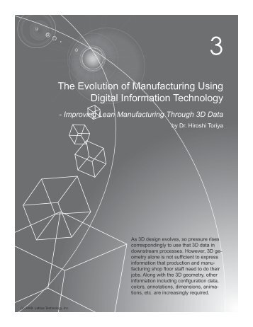 The Evolution of Manufacturing Using Digital Information Technology