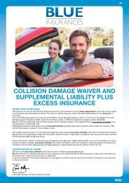 Collision Damage Waiver and Supplemental ... - Blue Insurances