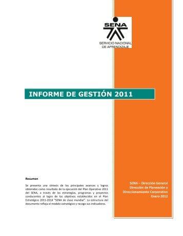 Informe de gestión 2011 - Sena