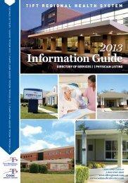 2013 Information Guide - Tift Regional Medical Center