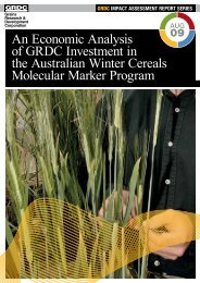An Economic Analysis of Investment in the Australian Winter Cereals ...