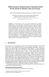 Multi-document Summarization Using Informative Words and Its ...