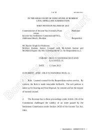 CIT Vs. Income Tax Settlement Commission(ITSC, WP No ... - TaxGuru