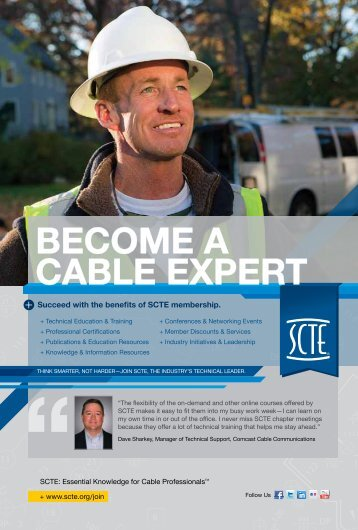 Download the SCTE Membership Benefits Brochure