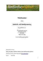 och familjeomsorgen, jämförelse med andra kommuner (pdf, nytt ...