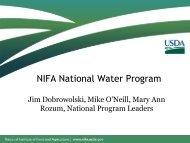 NIFA National Water Program