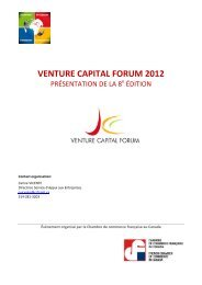 VENTURE CAPITAL FORUM 2012