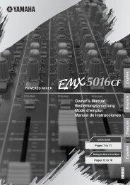 EMX5016CF Owner's Manual - Yamaha