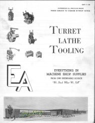 Warner and Swasey Turret Lathe Tooling Brochure - Sterling ...