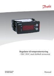 Regulator til temperaturstyring - EKC 201C med dobbelt termostat ...
