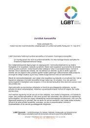 LGBT Danmark – Juridisk kønsskifte - panbloggen