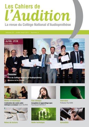 Télécharger le PDF complet N°4 Année 2011 - Collège National d ...