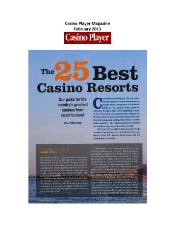 Casino Player Magazine - The Cosmopolitan Las Vegas
