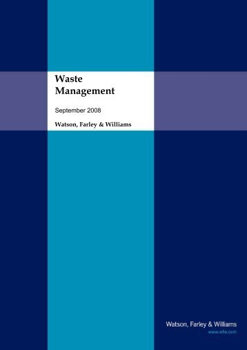 Waste Management Experience Brochure - Watson, Farley & Williams
