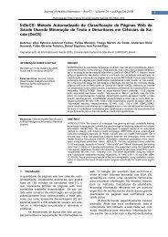 InDeCS: Método Automatizado de Classificação de ... - ITpack