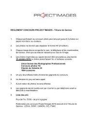 REGLEMENT CONCOURS PROJECT'IMAGES - Tribune de Genève ...