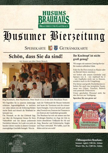 Husumer Bierzeitung - Husums Brauhaus
