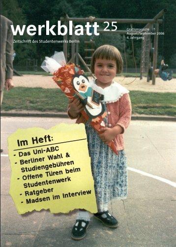 Im Heft: - Studentenwerk Berlin