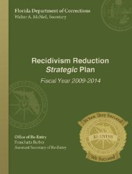 Recidivism Reduction Strategic Plan for Fiscal Year 2009-2014