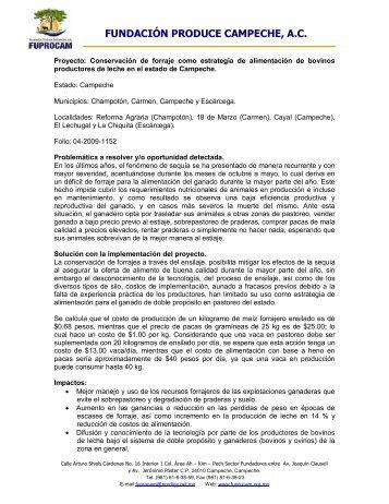 FUNDACIÓN PRODUCE CAMPECHE, A.C. - Cofupro