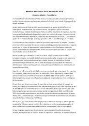 Reunião Temática 15/05/2013 - Servidores - Defensoria