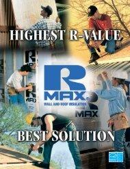 RMax Wall Insulation Brochure - BlueLinx