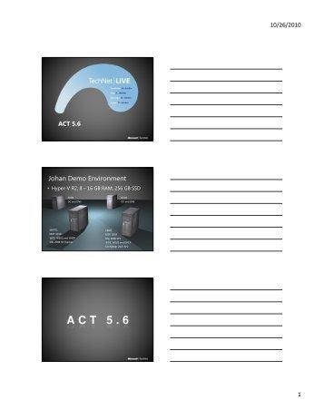ACT 5.6 - TechNet Blogs