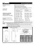 Spec Sheet - Rinnai - Page 2