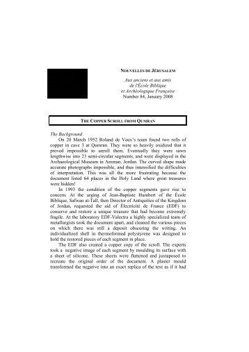 Jerusalem Letter 2007b - EBAF