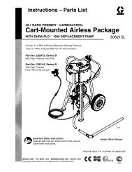 308215L Cart-Mounted Airless Packages, 45:1 Premier ... - Graco Inc.
