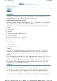 Erectile Dysfunction Patient Leaflet