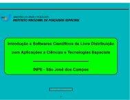 Introdução a Softwares Científicos de Livre ... - mtc-m17:80 - Inpe