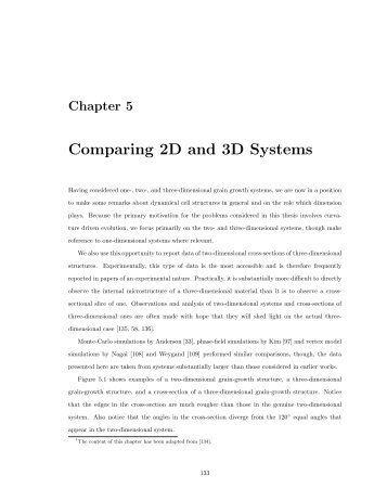 Comparing 2D and 3D Systems - IAS