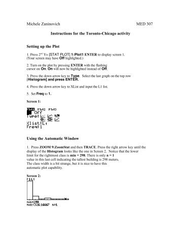 Instructions for the Toronto-Chicago activity