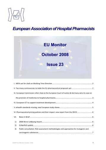 EU Monitor 22 October 2008