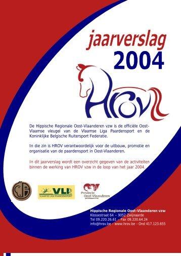 Jaarverslag werking 2004 - HROV