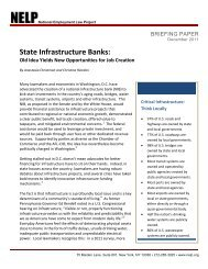 State Infrastructure Banks: Old Idea Yields New Opportunities for ...