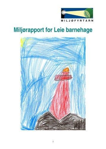 Miljørapport for Leie barnehage - Fredrikstad kommune