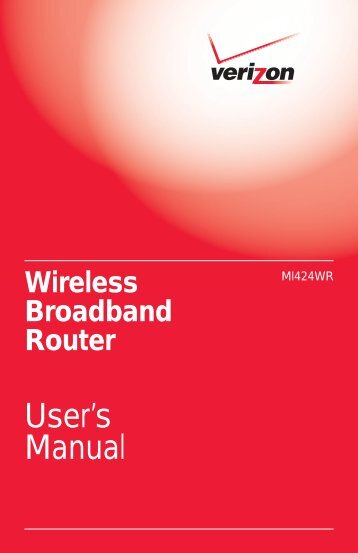 User's Manual - Verizon