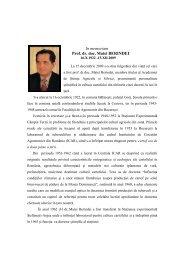 In memoriam Prof. dr. doc. Matei BERINDEI