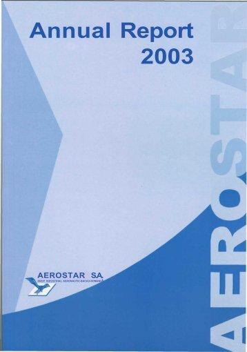 Annual Report 2003 - Aerostar S.A.