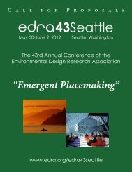 The 43rd Annual - Environmental Design Research Association