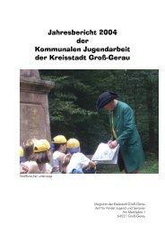 Jahresbericht 2004 der Kommunalen Jugendarbeit der Kreisstadt ...