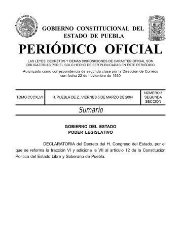 PERIÓDICO OFICIAL - CAIP