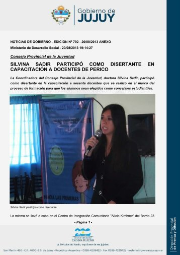 silvina sadir participó como disertante en capacitación a docentes ...