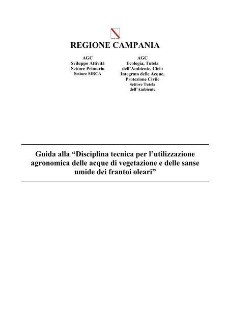 Guida alla disciplina tecnica per l'utilizzazione agronomica delle ...