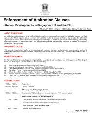 Enforcement of Arbitration Clauses - Law Society of Singapore