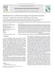 Environmental and Experimental Botany Naphthoquinones as ...